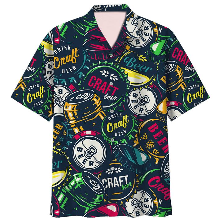 Drink craft beer pattern hawaiian shirt and short