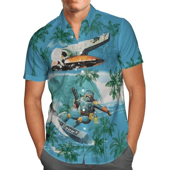 Star Wars Boba Fett Aloha Hawaiian Shirt