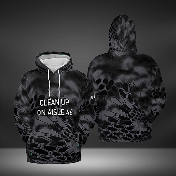 Clean up on aisle 46 All Over Print Hoodie