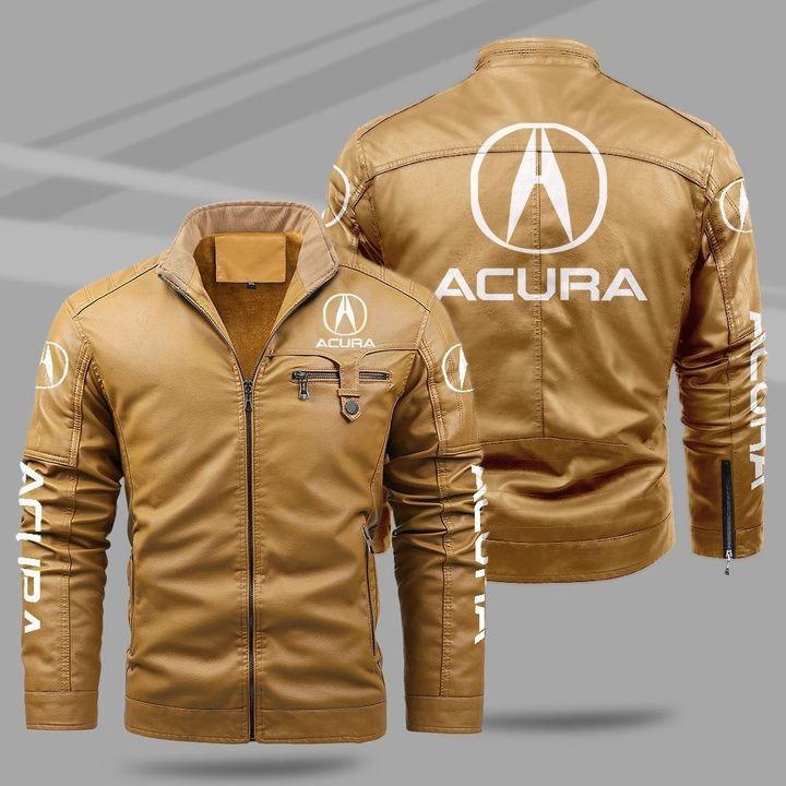 Acura Fleece Leather Jacket 1