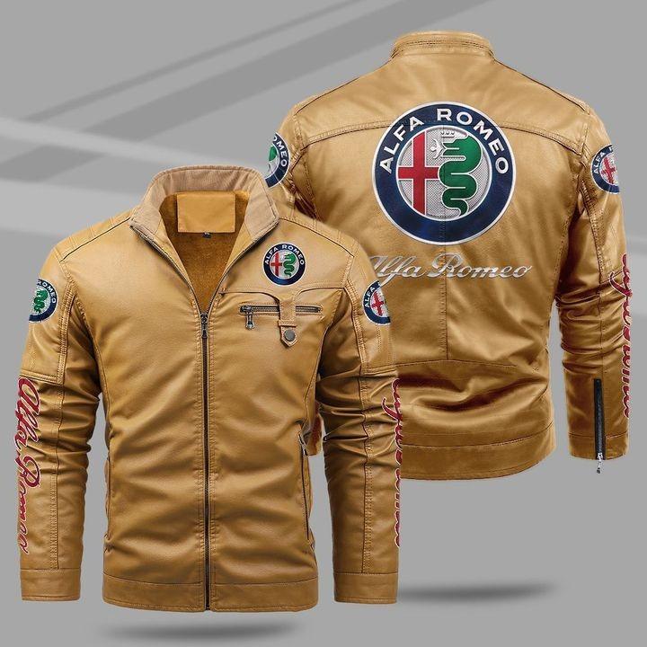 Alfa Romeo Fleece Leather Jacket 1