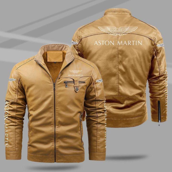 Aston Martin Fleece Leather Jacket 1