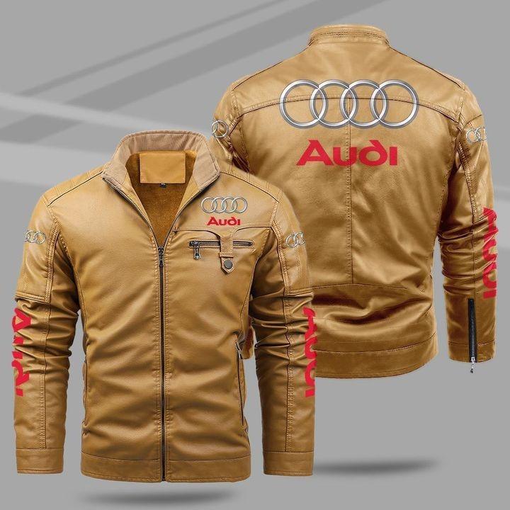 Audi Fleece Leather Jacket 1