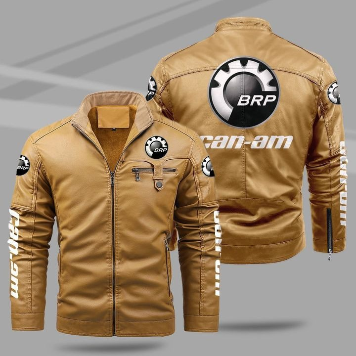 Can-Am Fleece Leather Jacket 1