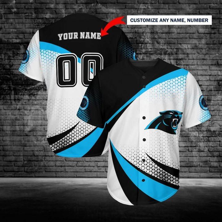 Carolina Panthers Personalized Custom Name Baseball Jersey