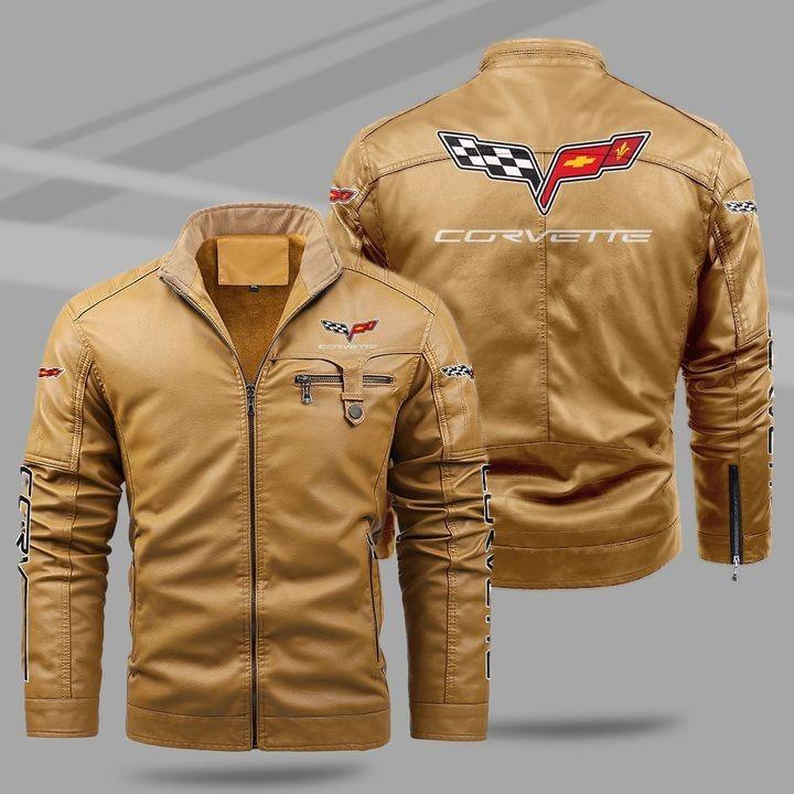 Chevrolet Corvette Fleece Leather Jacket 1