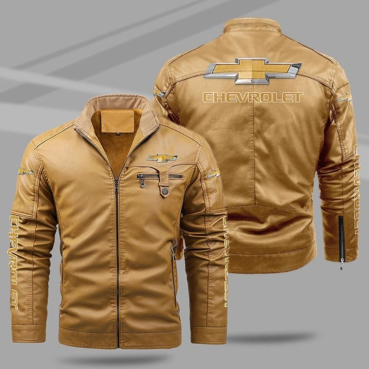 Chevrolet Fleece Leather Jacket 1