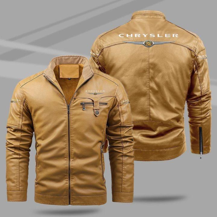 Chrysler Fleece Leather Jacket 1