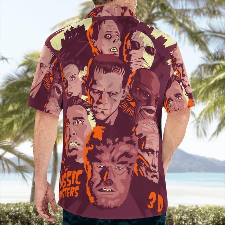 Classic Horror Monster Hawaiian Shirt