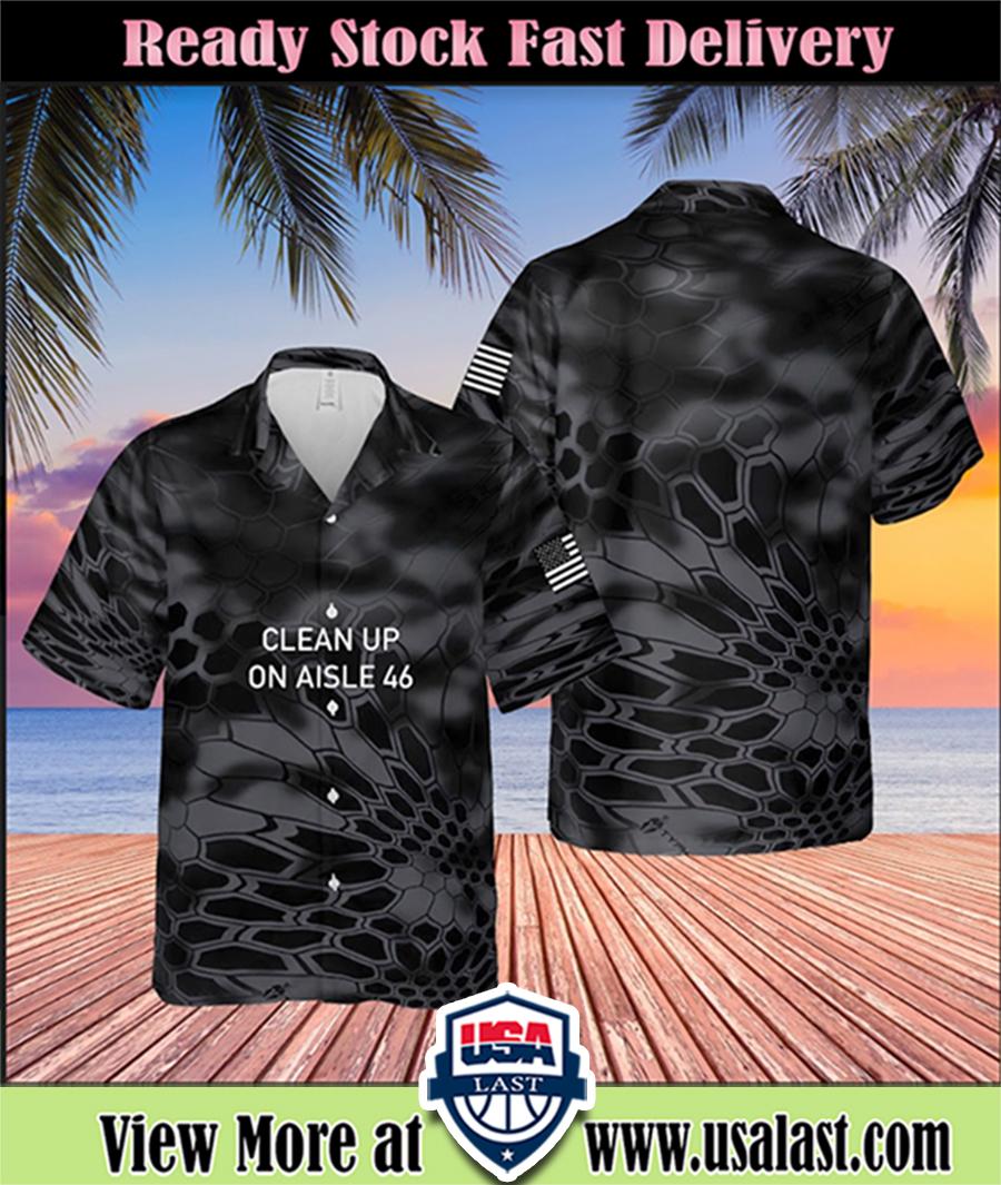 Clean up on aisle 46 hawaiian shirt 3