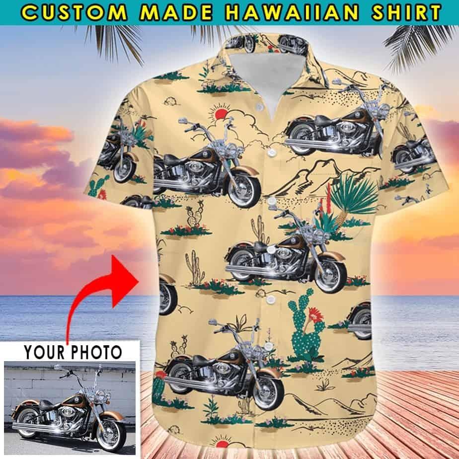 Custom Motor Short Sleeve Hawaiian Shirt