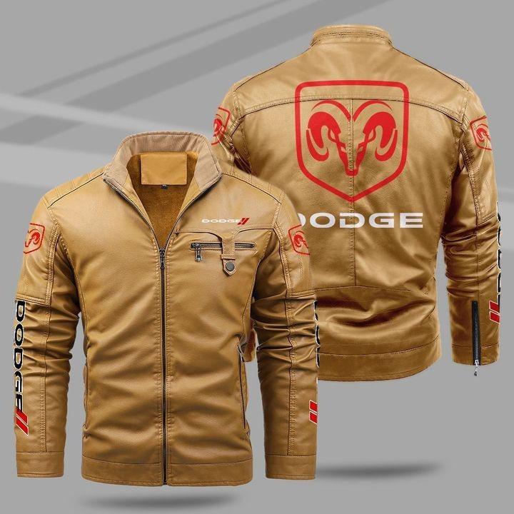 Dodge Fleece Leather Jacket 1