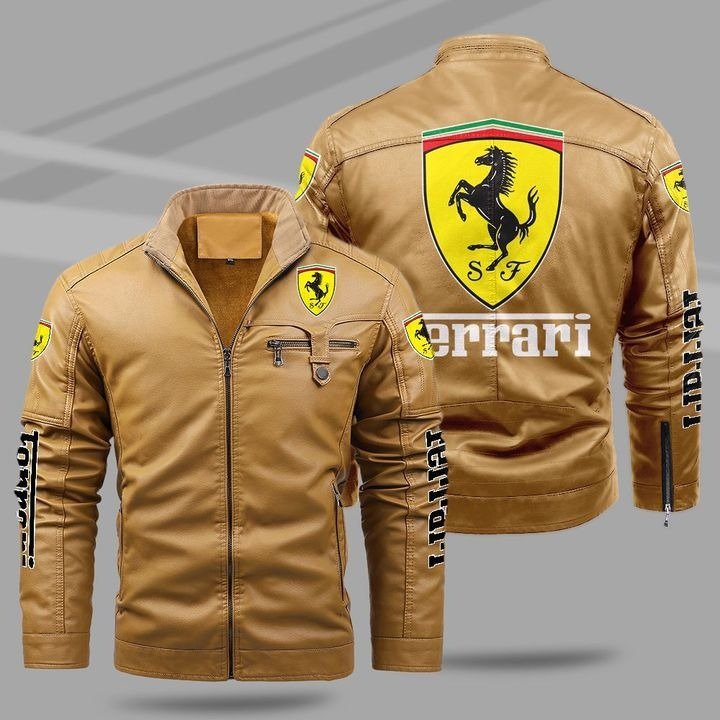 Ferrari Fleece Leather Jacket 1