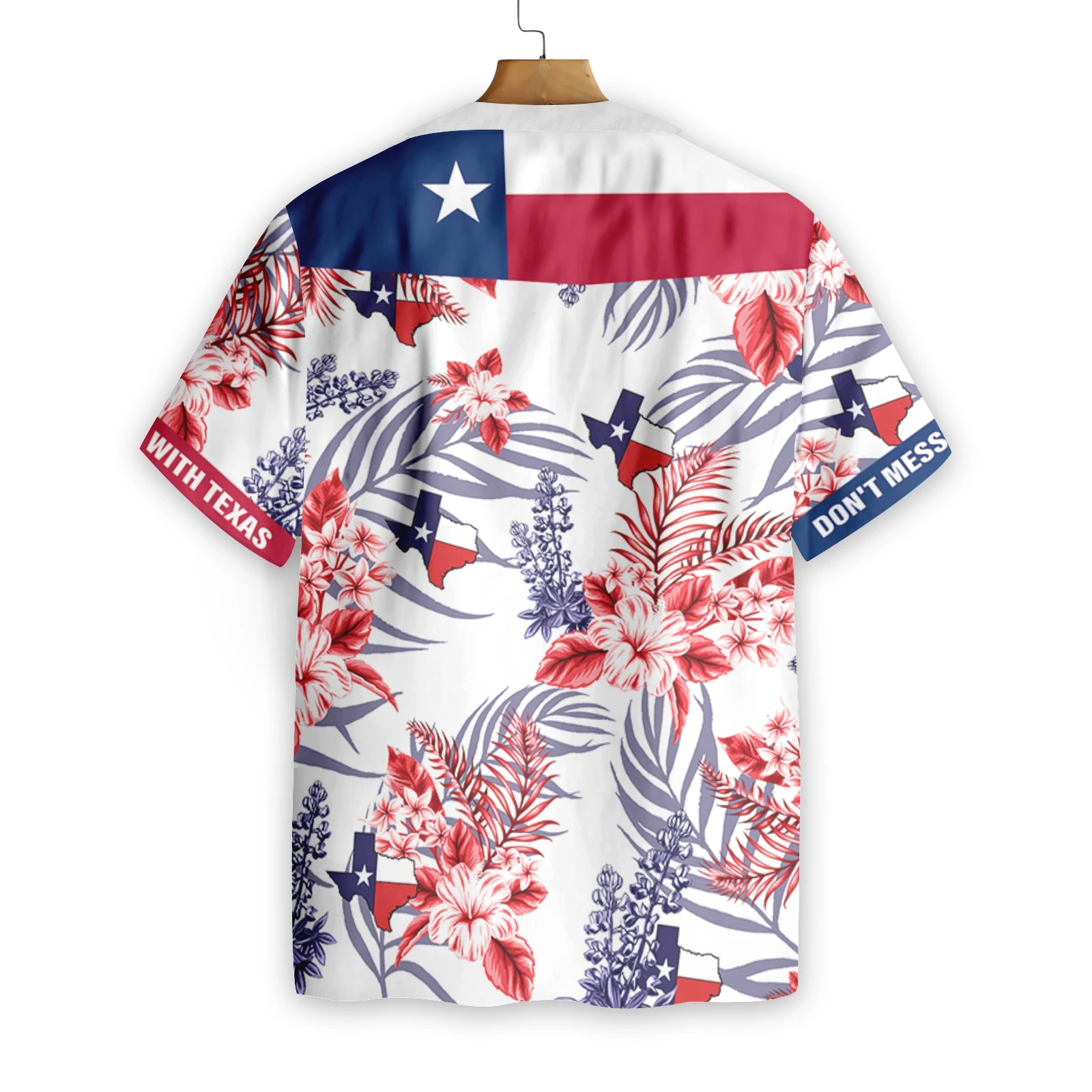 Floral Bluebonnet Don't Mess With Texas Hawaiian Shirt