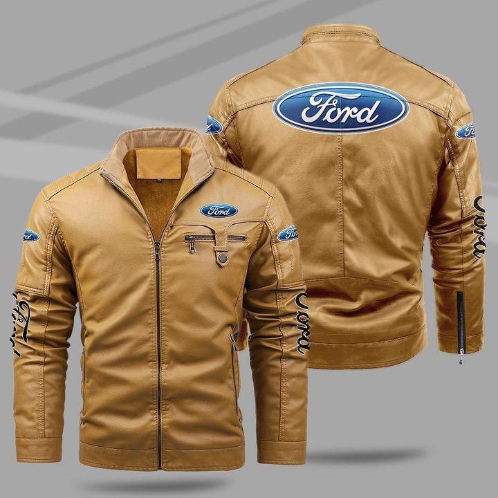 Ford Fleece Leather Jacket 1