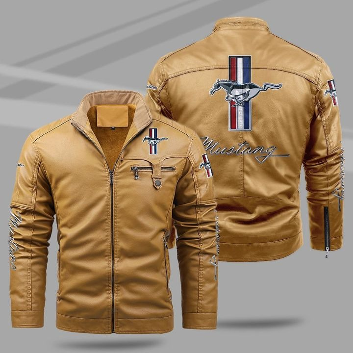Ford Mustang Fleece Leather Jacket 1