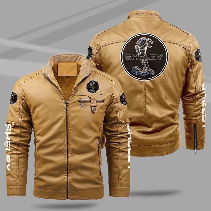 Ford Shelby Fleece Leather Jacket 1