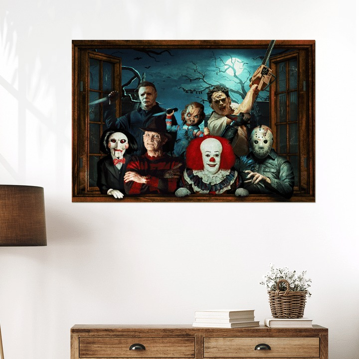 Horror Character Windows Poster And Canvas Print