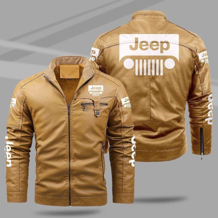 Jeep Fleece Leather Jacket 1