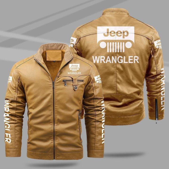 Jeep Wrangler Fleece Leather Jacket 1