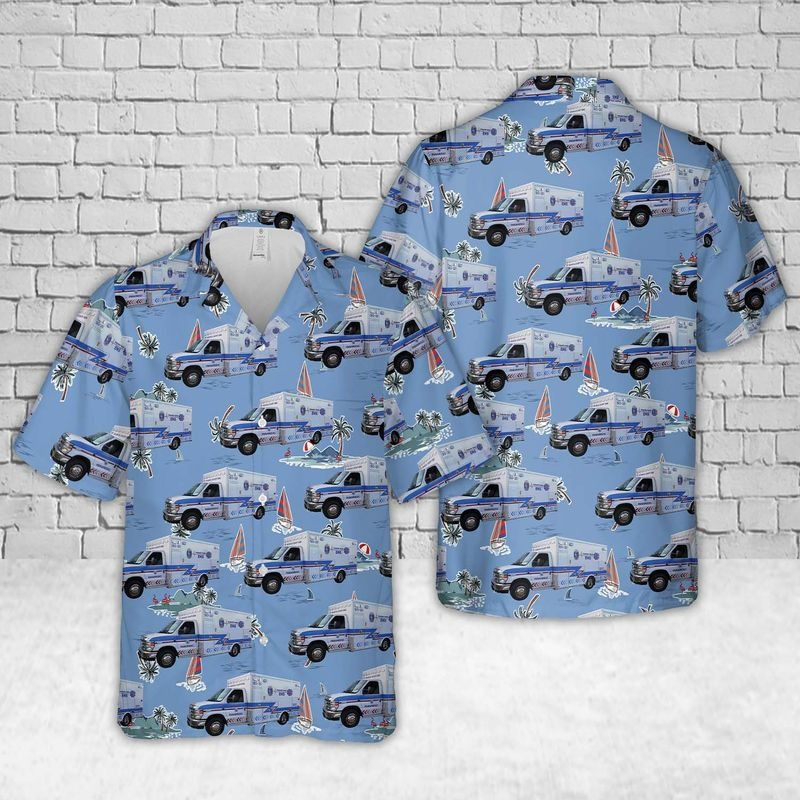 Kansas Sedgwick County EMS Hawaiian Shirt