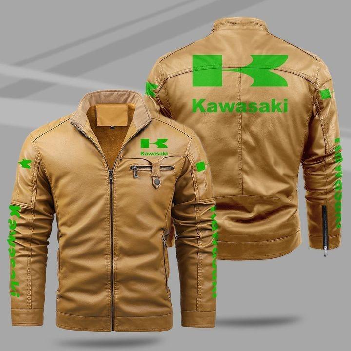 Kawasaki Fleece Leather Jacket 1