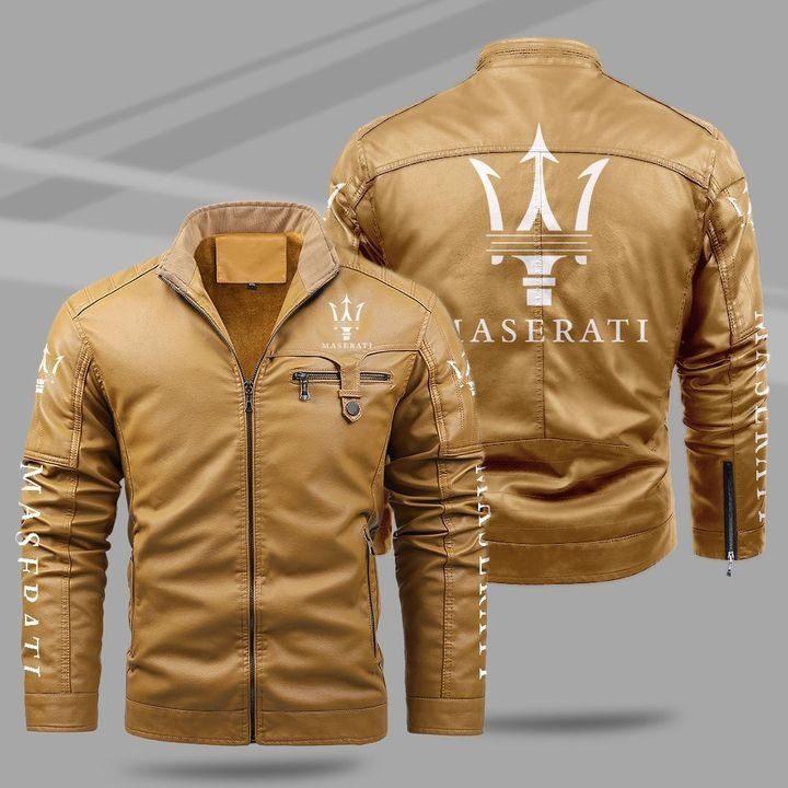 Maserati Fleece Leather Jacket 1