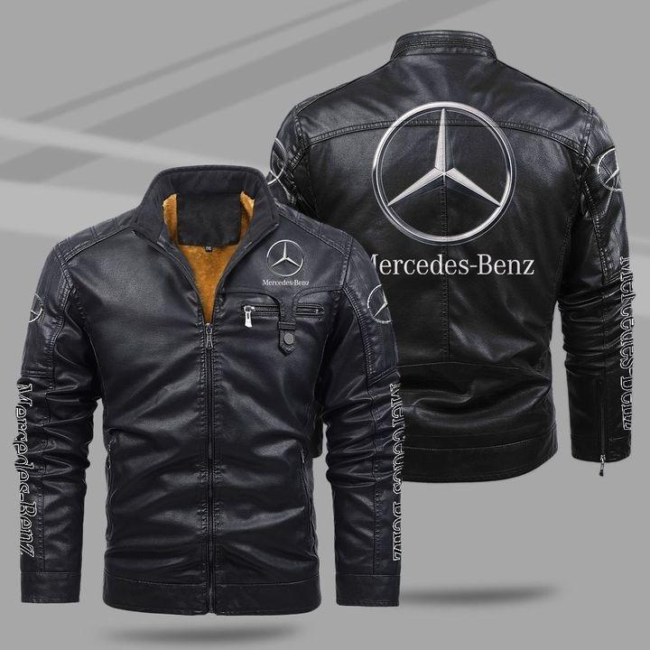 Mercedes Benz Fleece Leather Jacket
