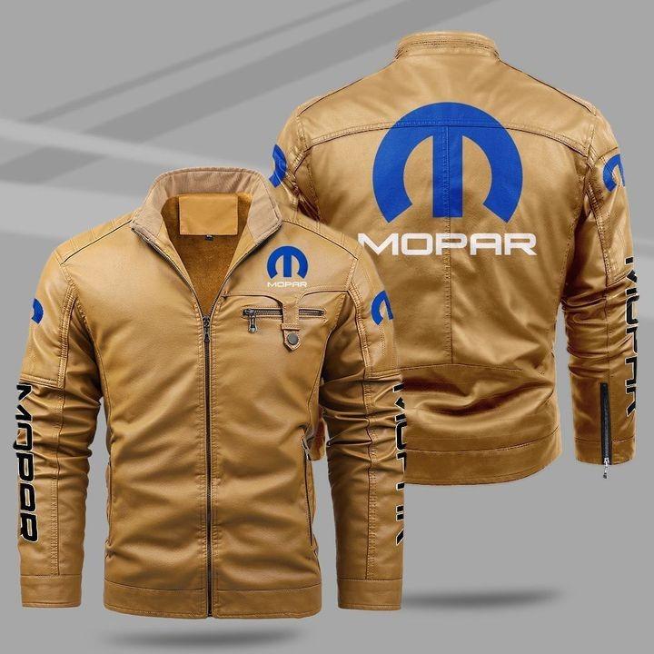 Mopar Fleece Leather Jacket 1