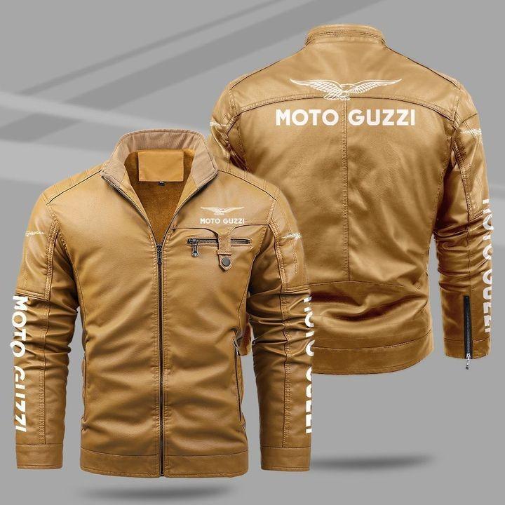 Motor Guzzi Fleece Leather Jacket 1