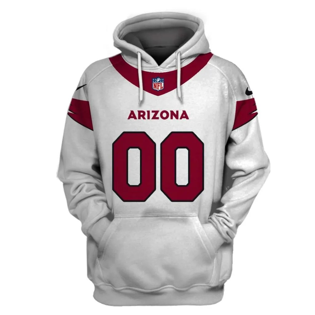 NFL Arizona Cardinals Custom Name Number 3D Full Print Shirt On Usalast