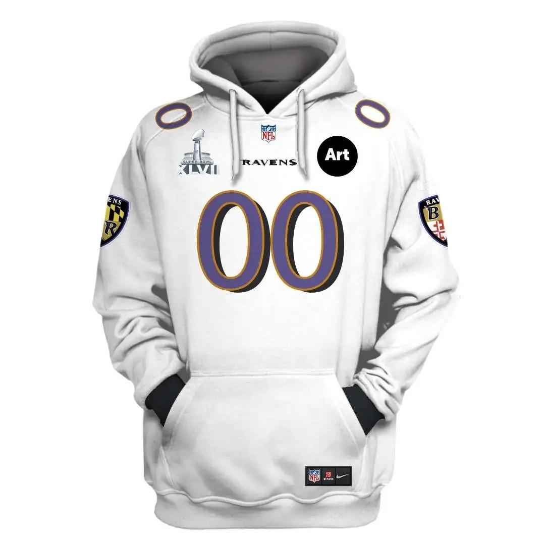 NFL Baltimore Ravens Custom Name Number 3D Full Print Shirt On Usalast