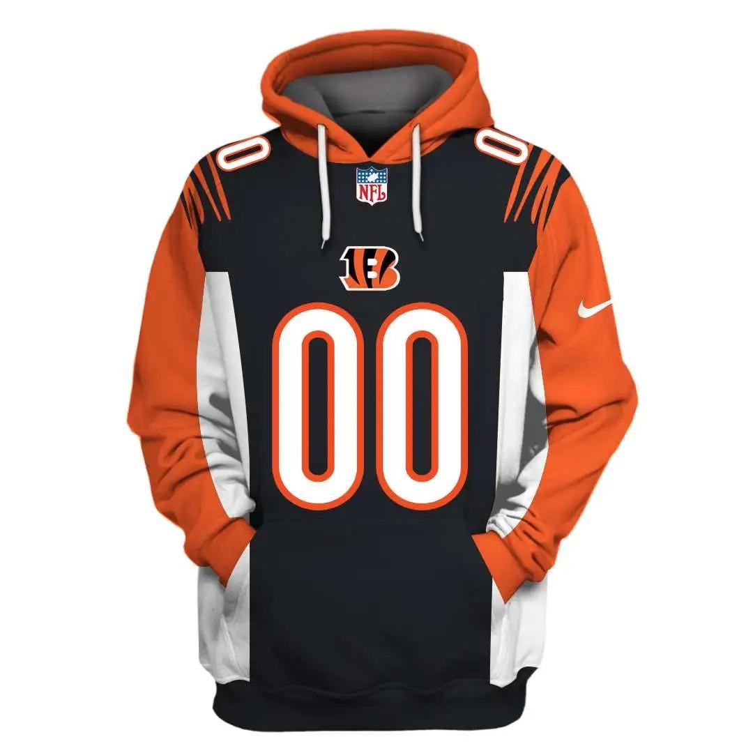 NFL Cincinnati Bengals Custom Name Number 3D Full Print Shirt On Usalast