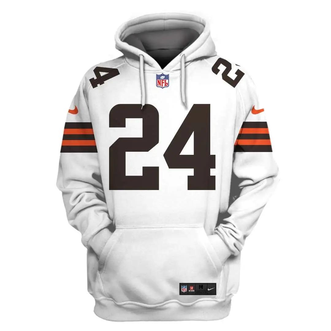 NFL Cleveland Browns Custom Name Number 3D Full Print Shirt On Usalast