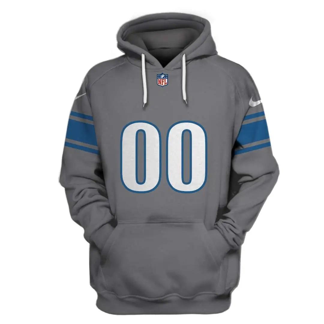 NFL Detroit Lions Custom Name Number 3D Full Print Shirt On Usalast