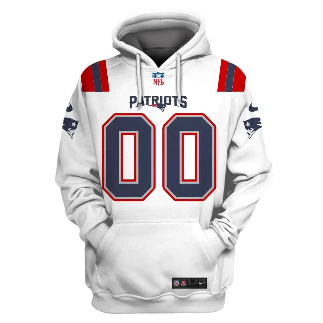 NFL New England Patriots Custom Name Number 3D Full Print Shirt On Usalast