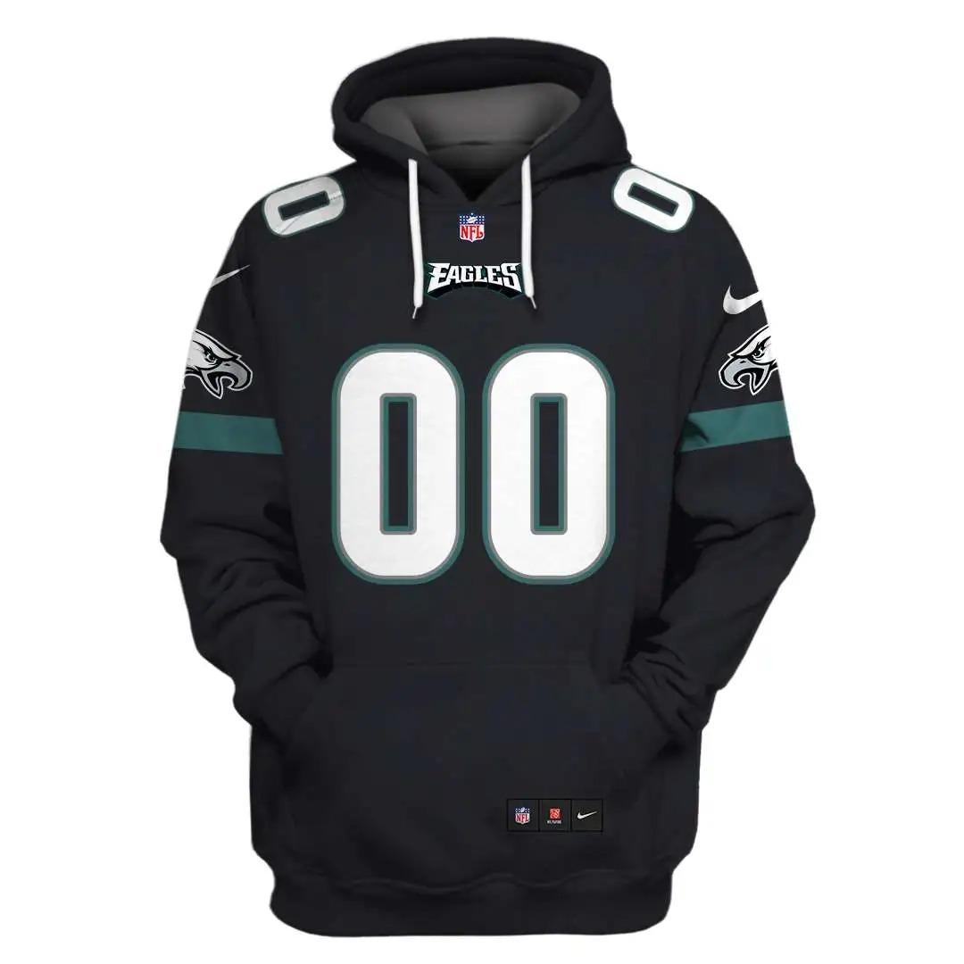 NFL Philadelphia Eagles Custom Name Number 3D Full Print Shirt ON Usalast