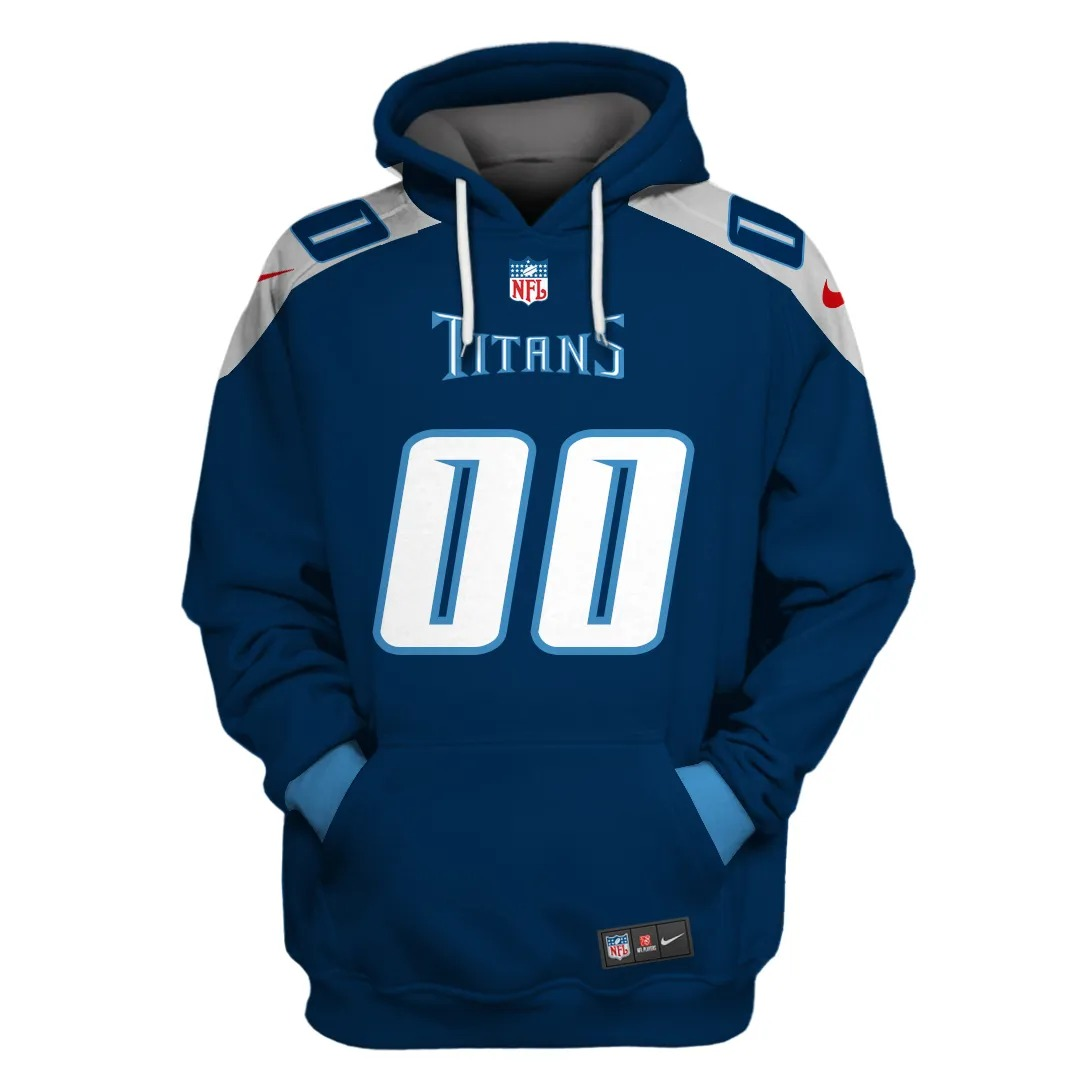 NFL Tennessee Titans Personalized Name With Number 3D Full Print Shirt On Usalast