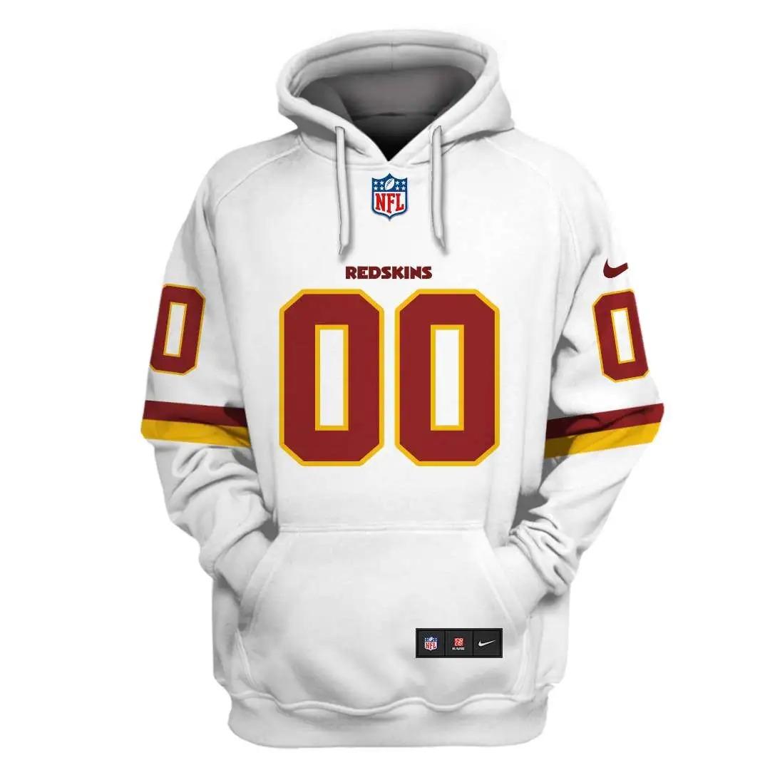 NFL Washington Football Team Custom Name Number 3D Full Print Shirt On Usalast