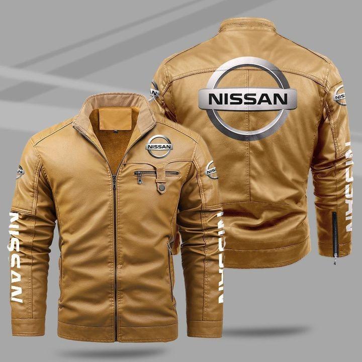 Nissan Fleece Leather Jacket 1