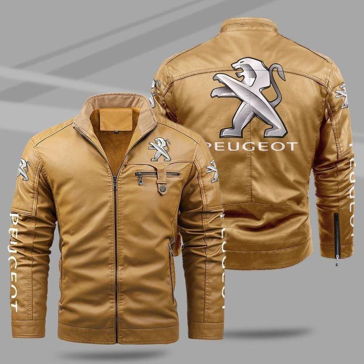 Peugeot Fleece Leather Jacket 1