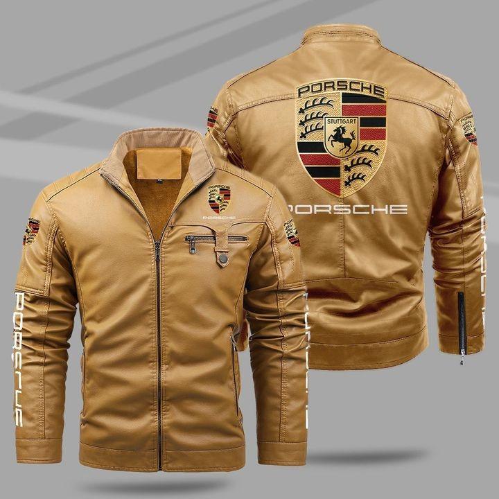 Porsche Fleece Leather Jacket 1