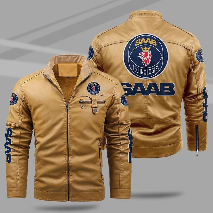 Sasab Automobile Fleece Leather Jacket 1