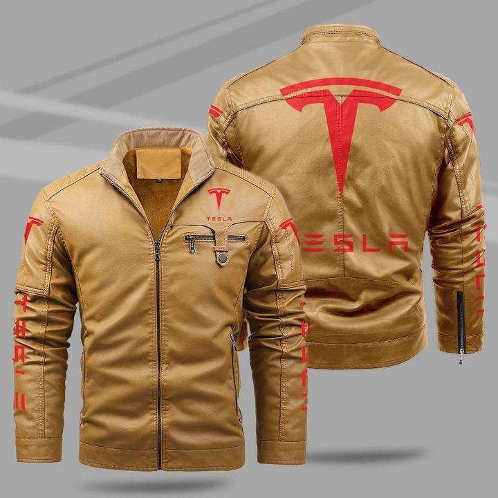 Tesla Fleece Leather Jacket 1