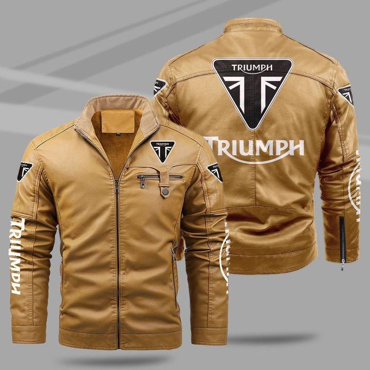 Triumph Fleece Leather Jacket 1