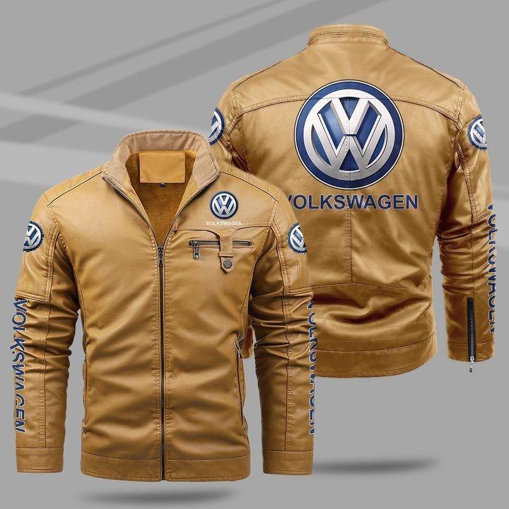 Volkswagen Fleece Leather Jacket 1