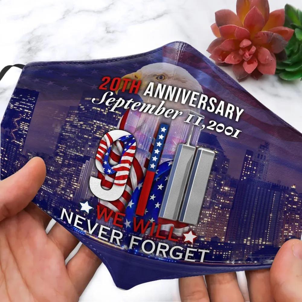9 11 20th Anniversary September Face Mask