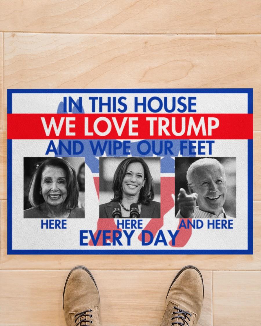 In this house we love Trump doormat