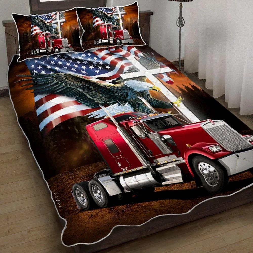 Jesus American Eagle Trucker Quilt Bedding Set