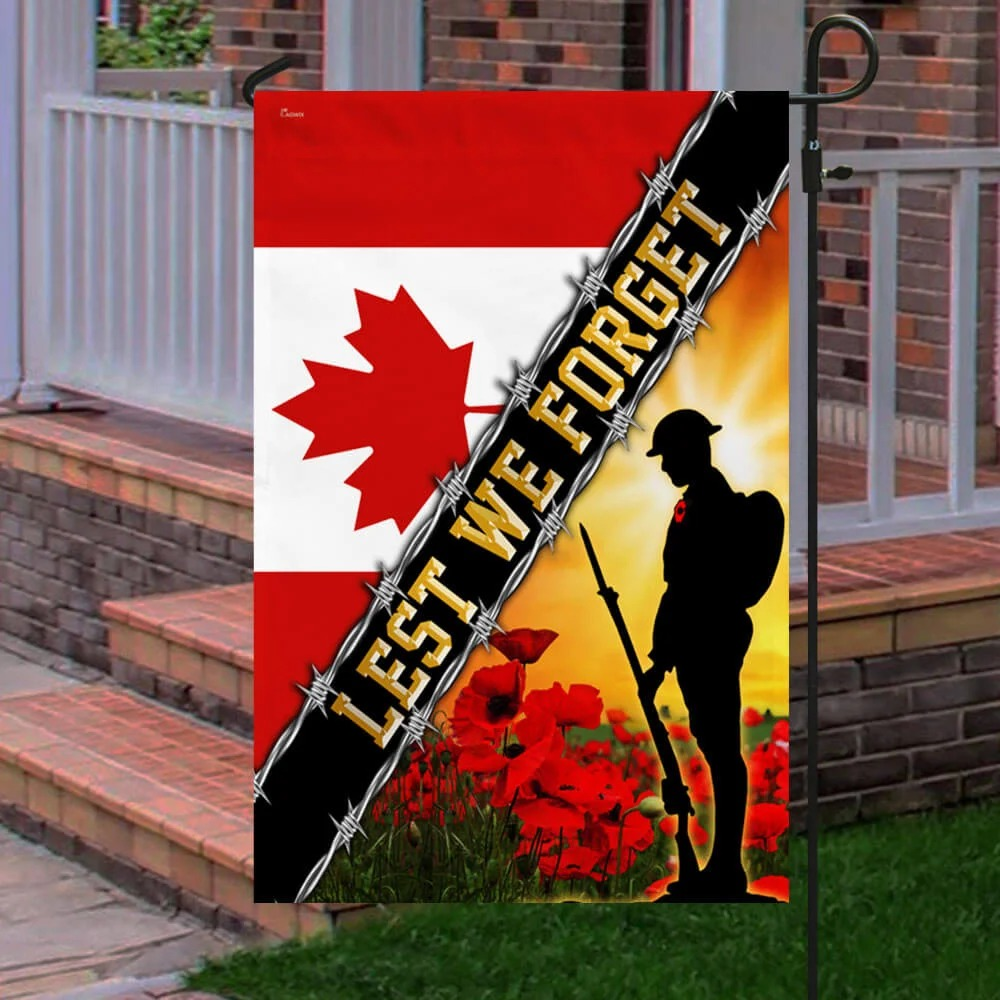 Lest We Forget Remembrance Day Flag Poppy
